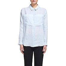 Buy Whistles Claudia Stripe Linen Shirt, Blue/White Online at johnlewis.com