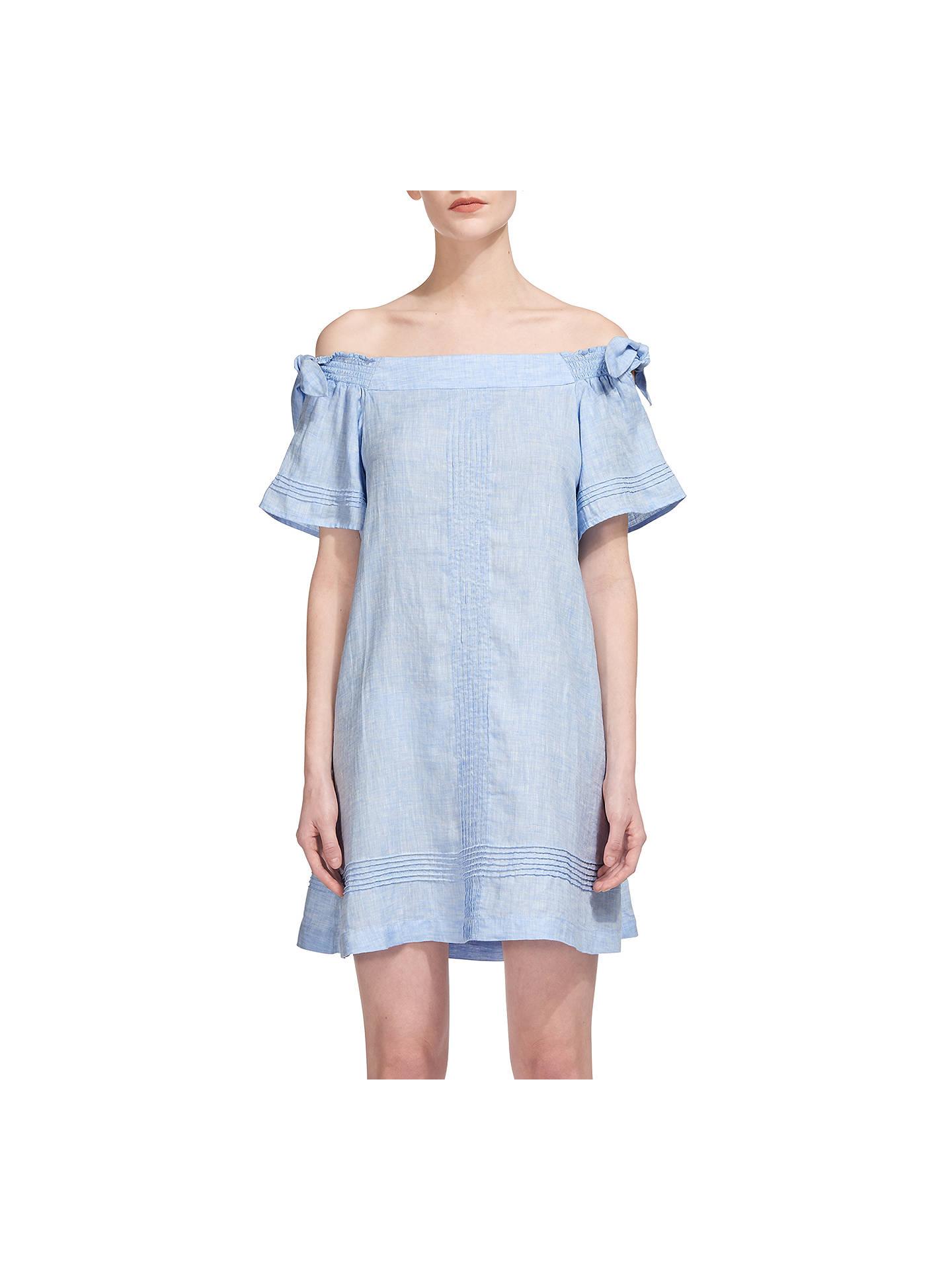 6ccf3ed97d Whistles Lila Tie Linen Bardot Dress at John Lewis   Partners