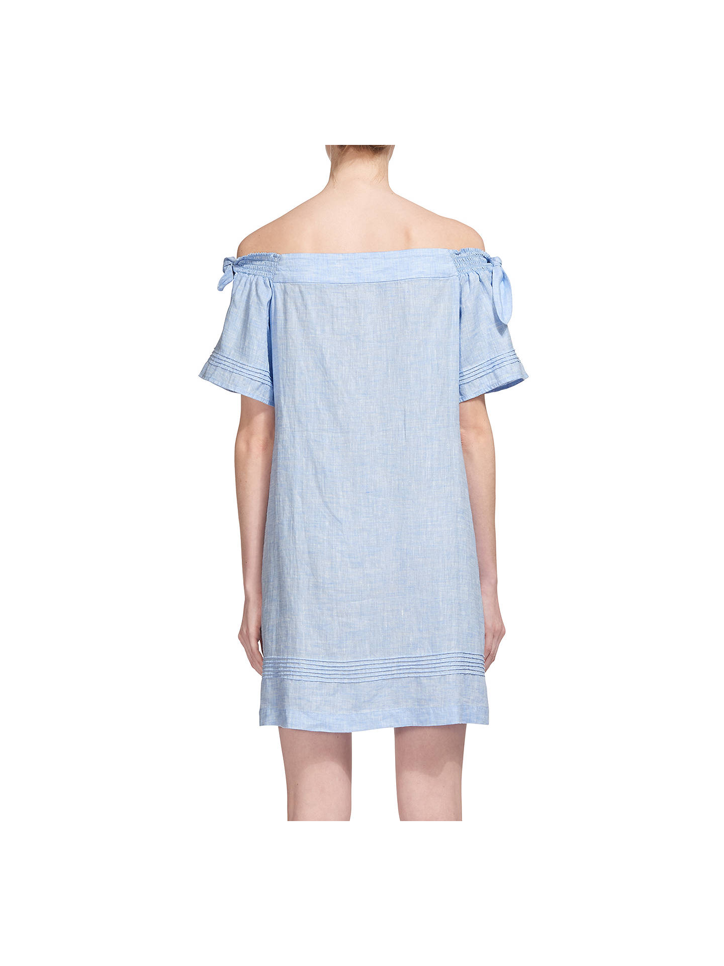 5a8a54707213b Whistles Lila Tie Linen Bardot Dress at John Lewis   Partners
