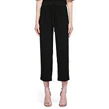 Buy Whistles Side Stripe Crop Trousers, Black/White Online at johnlewis.com