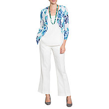 Buy East Hydrangea Print Pleat Jacket, Cornflower Online at johnlewis.com