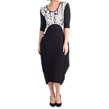 Buy Chesca Printed Trim Jersey Dress, Black Online at johnlewis.com