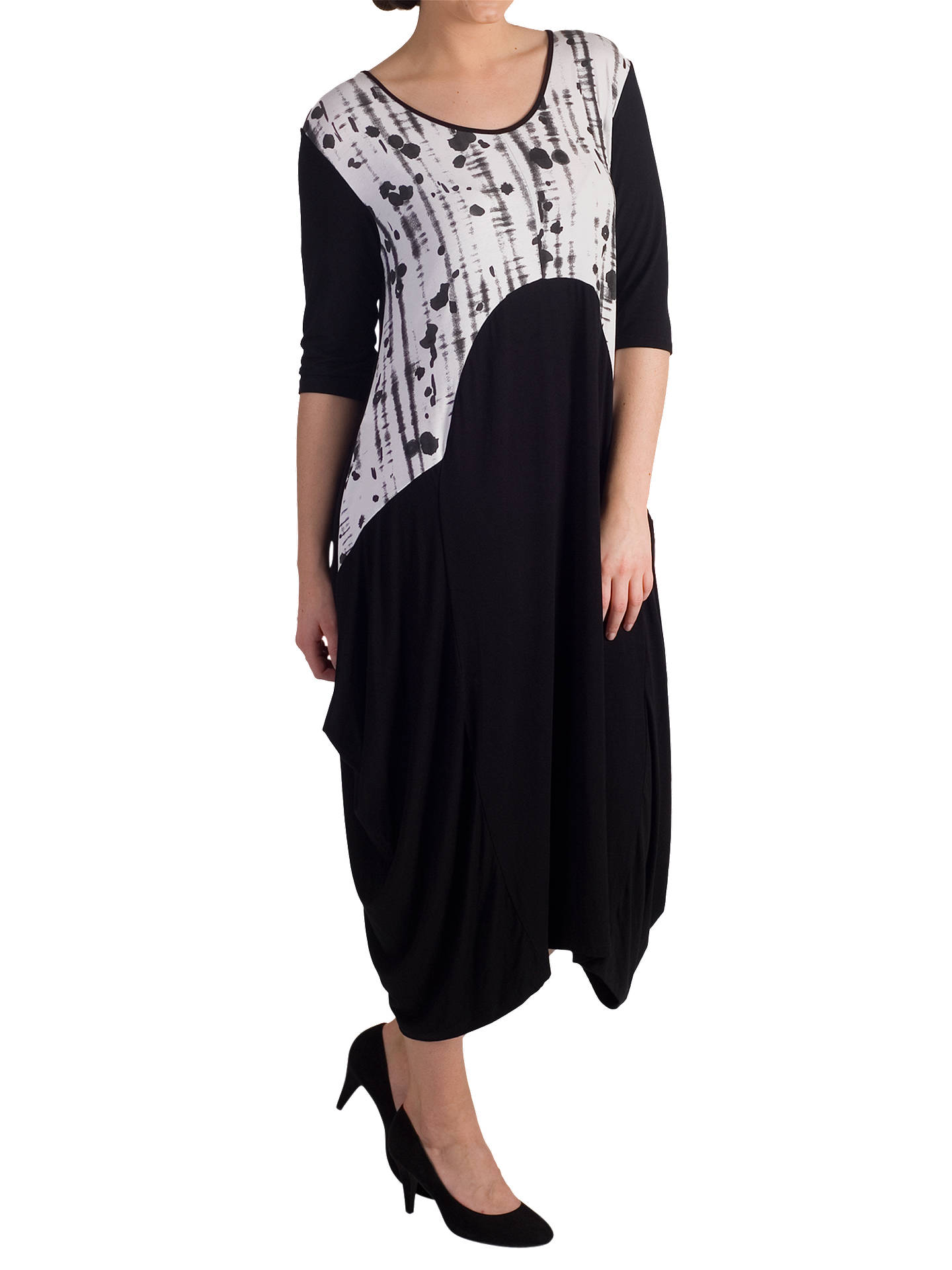 BuyChesca Printed Trim Jersey Dress, Black, 12-14 Online at johnlewis.com
