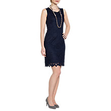 Buy East Lace Shift Dress, Navy Online at johnlewis.com