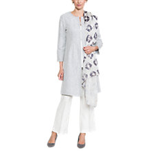 Buy East Liyana Embroidered Coat, Dove Online at johnlewis.com