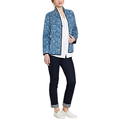 East Neelam Print Quilted Jacket, Indigo