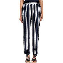 Buy Whistles Stripe Print Trousers, Navy Online at johnlewis.com