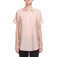 Buy Whistles Ellen Casual Shirt, Pink Online at johnlewis.com