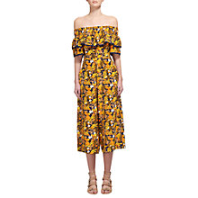 Buy Whistles Nadia Citrus Print Silk Jumpsuit, Yellow/Multi Online at johnlewis.com