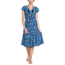 Buy East Neelam Print Dress, Indigo Online at johnlewis.com