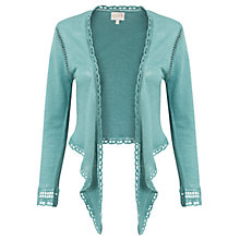 Buy East Linen Tie Front Cover Up Cardigan, Celadon Online at johnlewis.com