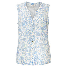 Buy East Antoinette Sleeveless Shirt, White Online at johnlewis.com