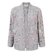 Buy East Lavina Embroidered Jacket, Dove Online at johnlewis.com