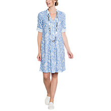 Buy East Linen Antoinette Pintuck Dress, Cornflower Online at johnlewis.com
