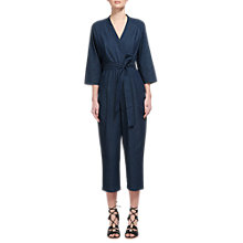Buy Whistles Wrap Tie Jumpsuit, Denim Online at johnlewis.com