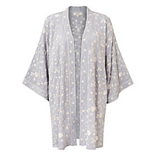 Buy East Amina Embroidered Kimono, Mist Online at johnlewis.com
