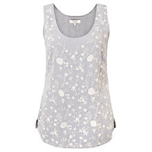 Buy East Amina Embroidered Vest, Mist Online at johnlewis.com
