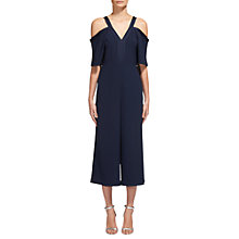 Buy Whistles Elsie V-Neck Jumpsuit, Navy Online at johnlewis.com