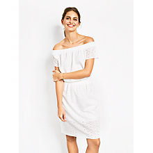 Buy hush Amber Dress, White Online at johnlewis.com