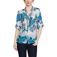 Buy East Hydrangea Print Blouse, Mist Online at johnlewis.com