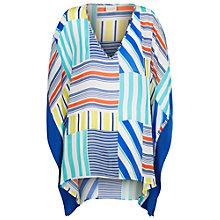 Buy East Martina Print Kaftan Top, White Online at johnlewis.com