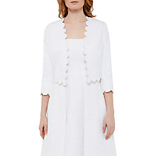 Buy Ted Baker Tie The Knot Callie Jacquard Scallop Edge Jacket, White Online at johnlewis.com