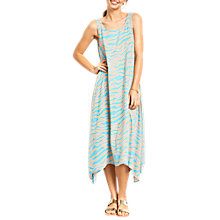 Buy hush Zebra Print Iris Dress, Turquoise Online at johnlewis.com