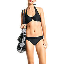 Buy hush Twist Front Bikini Bottoms, Black Online at johnlewis.com