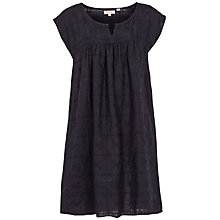 Buy Fat Face Una Grid Embroidered Dress, Phantom Online at johnlewis.com