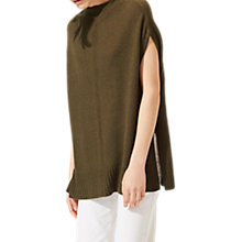 Buy Jigsaw Linen Cashmere Square Jumper, Bottle Green Online at johnlewis.com