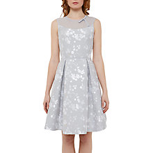 Buy Ted Baker Tie The Knot Alimi Oriental Blossom Bow Neck Dress, Light Grey Online at johnlewis.com