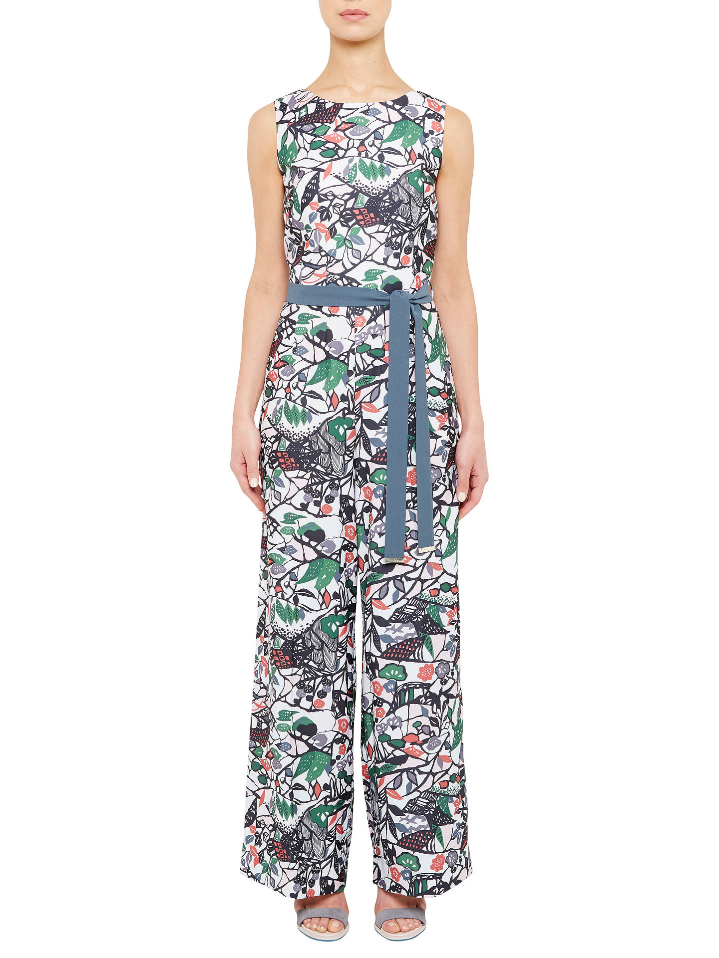 767720ccd54 Buy Ted Baker Colour By Numbers Fleut Floral Print Jumpsuit With Waist Tie