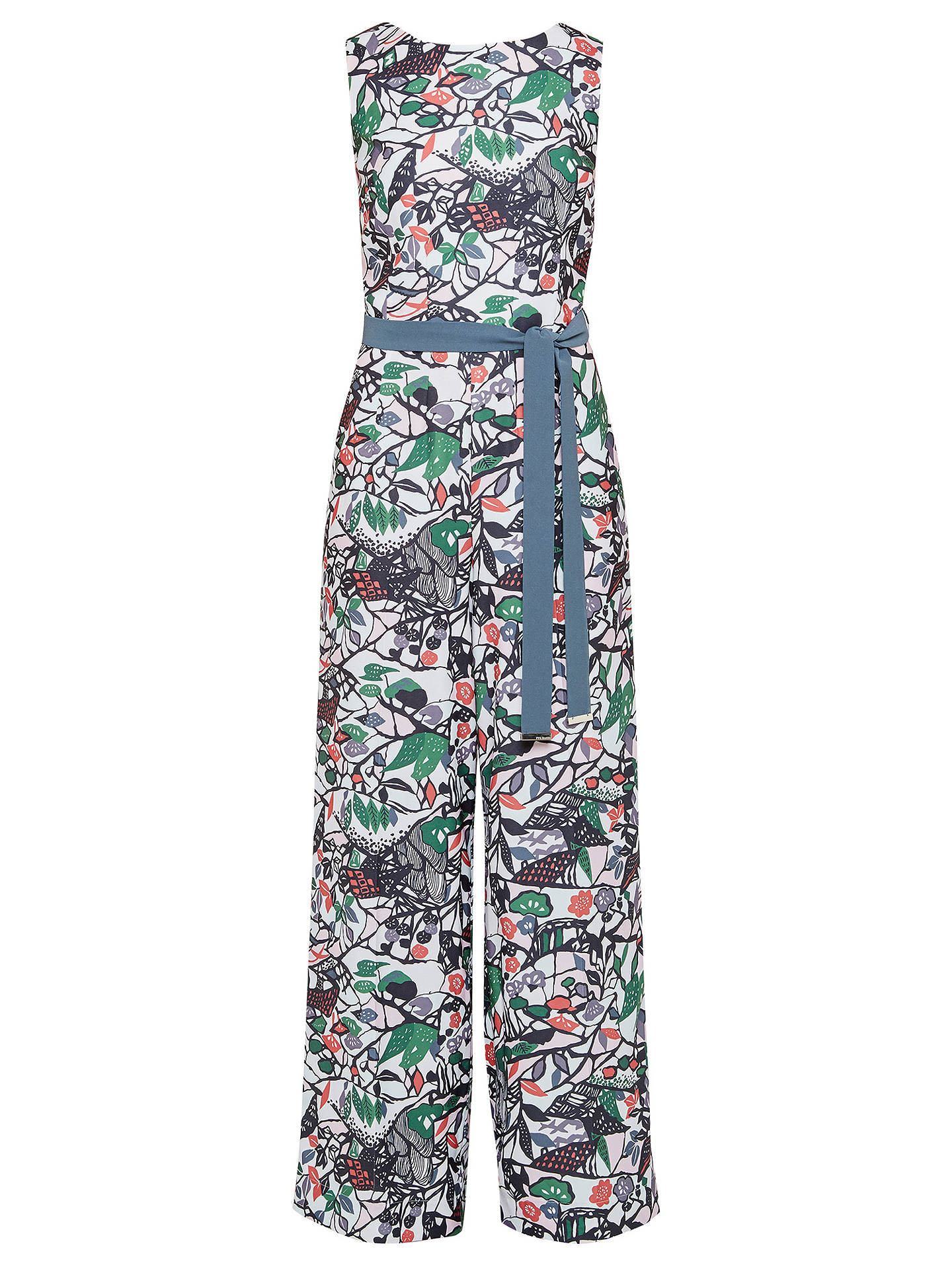 36a5e12bea0 ... Buy Ted Baker Colour By Numbers Fleut Floral Print Jumpsuit With Waist  Tie