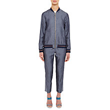 Buy Ted Baker Colour By Numbers Canock Zip Front Bomber Jacket, Navy Online at johnlewis.com
