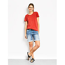 Buy hush Washed Classic T-Shirt, Red Online at johnlewis.com