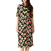 Buy Sugarhill Boutique Faye Floral Midi Shirt Dress, Black/White Online at johnlewis.com