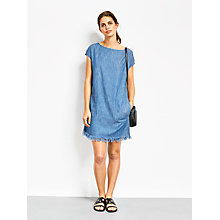 Buy hush Zinnia Chambray Dress, Blue Online at johnlewis.com