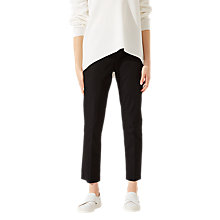 Buy Jigsaw Ottoman Cigarette Trousers, Black Online at johnlewis.com