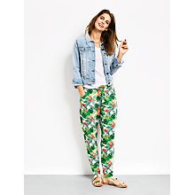 Buy hush Tropical Leaves Relaxed Trousers, Multi Online at johnlewis.com