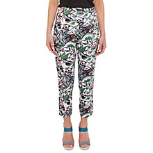 Buy Ted Baker Colour By Numbers Hibica Cross Front Semi Fitted Trousers, Grey Online at johnlewis.com