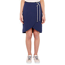Buy Ted Baker Colour By Numbers Yooy Crossover Front Skirt, Navy Online at johnlewis.com