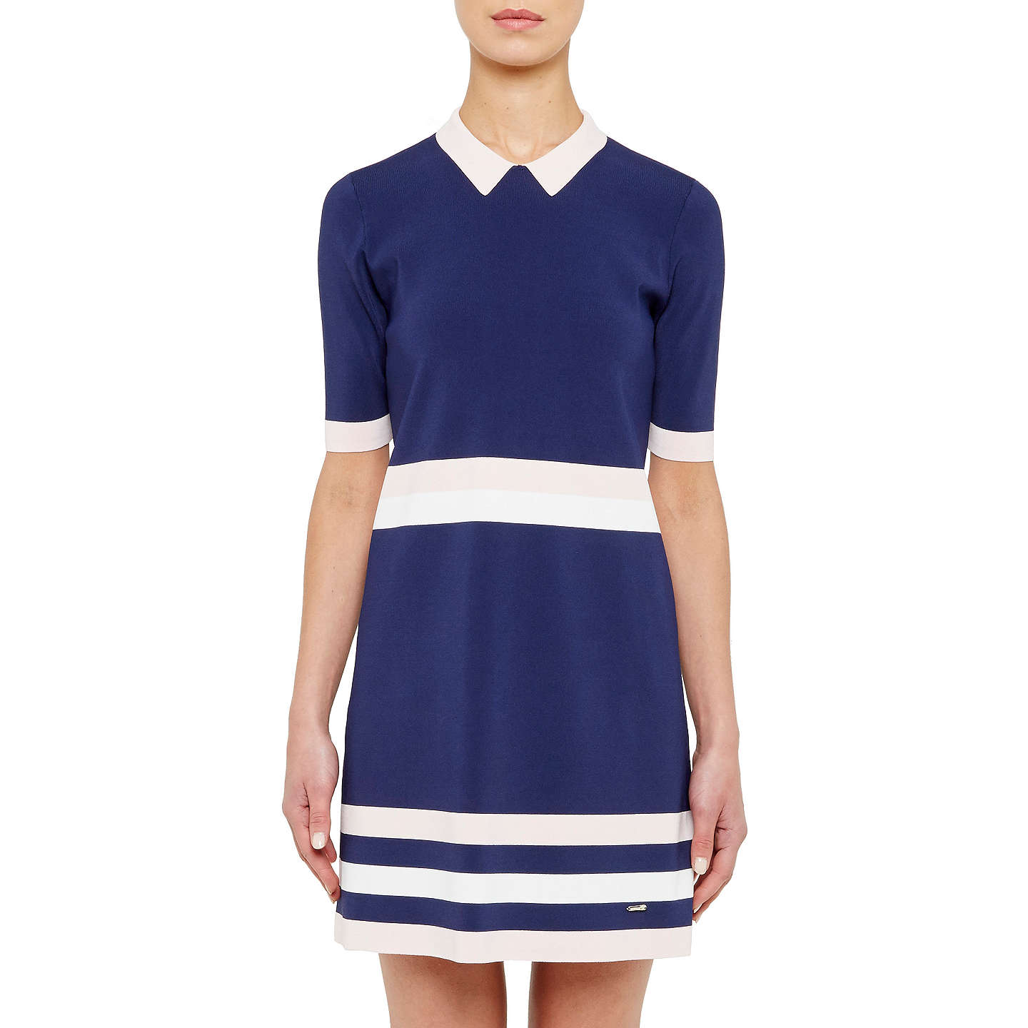 Ted baker colour by numbers origami knitted stripe dress at john lewis buyted baker colour by numbers origami knitted stripe dress navy 0 online at johnlewis jeuxipadfo Gallery