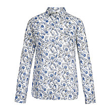 Buy Fat Face Rosie Trailing Woodblock Shirt, Ivory Online at johnlewis.com