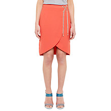 Buy Ted Baker Colour By Numbers Yooy Crossover Front Skirt, Red Online at johnlewis.com