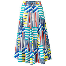 Buy East Martina Skirt, White/Multi Online at johnlewis.com
