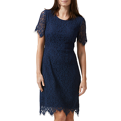 Sugarhill Boutique Dawn A-Line Lace Dress, Navy