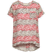Buy Fat Face Zoe Floral Stripe Longline Top, Ivory Online at johnlewis.com