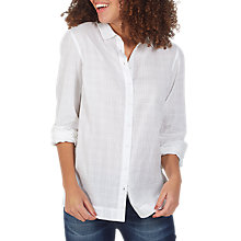 Buy Fat Face Rachel Relaxed Shirt, White Online at johnlewis.com