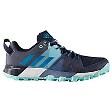 Buy Adidas Kanadia 8.1 Trail Women's Running Shoes, Navy/Aqua Online at johnlewis.com