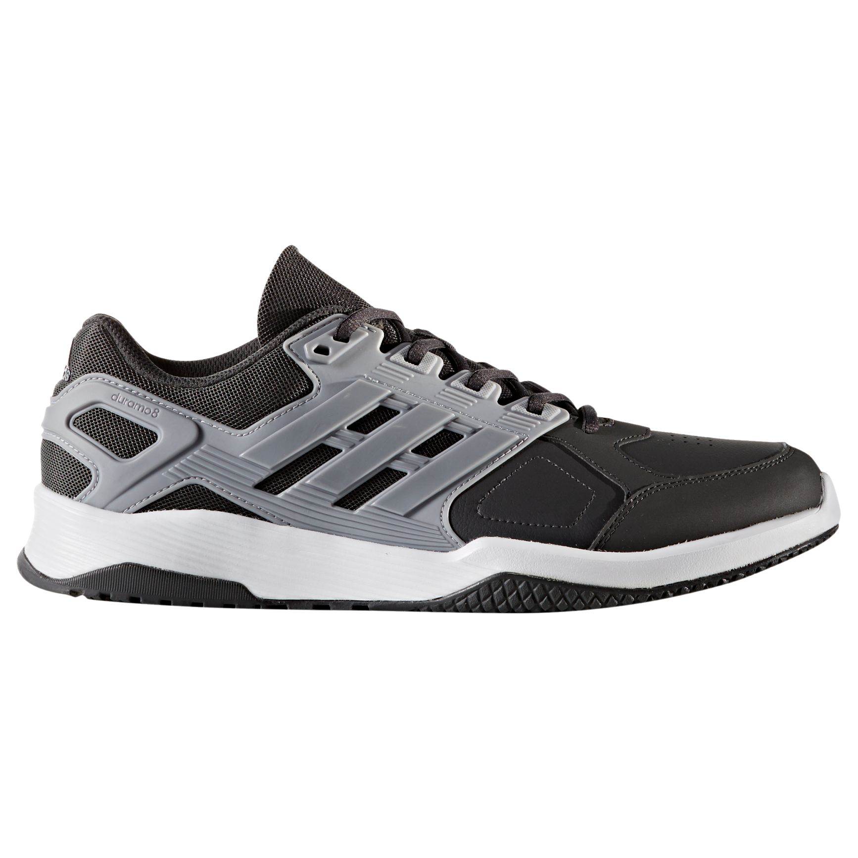... outlet online 2c8f1 7b195 adidas Duramo 8 Mens Training Shoes, Black at  John Lewis Pa ...